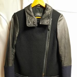 Mackage Wool and Lambs Leather Coat